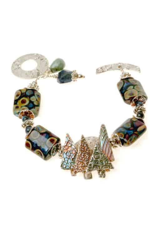 Enchanted Forest Lampwork Bracelet