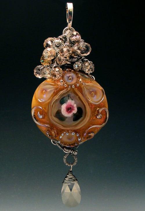Garden of Grace Lampwork Pendant