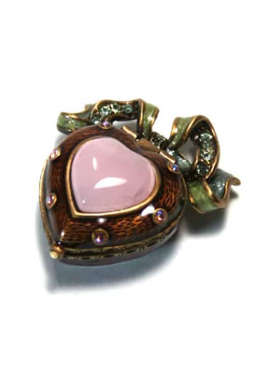 Jay Strongwater Pauline Mini Heart Box Top