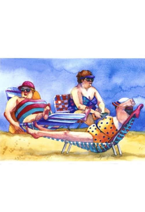 Ladies Lounging Print by Lynn Greer