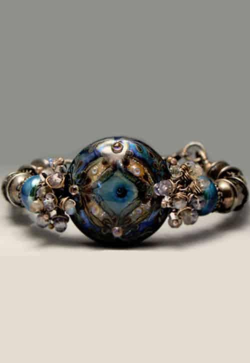 Moonlight Waltz Lampwork Bracelet