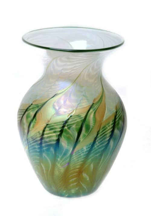 Natalie Verde Heart Vase by Lundburg Studios