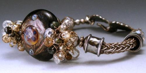 Plutonic Heart Lampwork Bracelet by Lydia Muell View 2