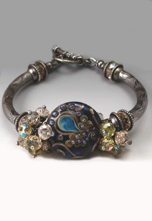 Songbird Lampwork Bracelet