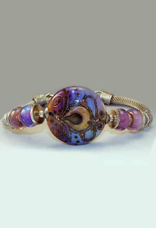 Twilight Oasis Lampwork Bracelet