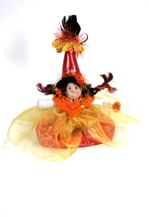 Wee Little Souls Witch In Orange