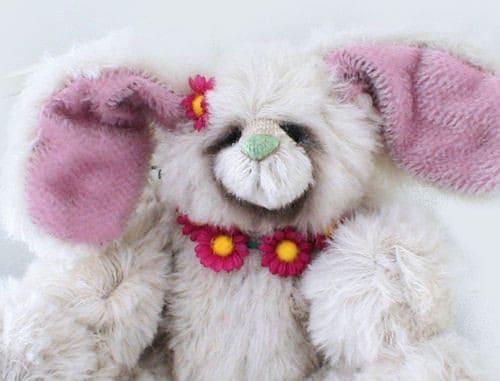 Flower Bunny Face