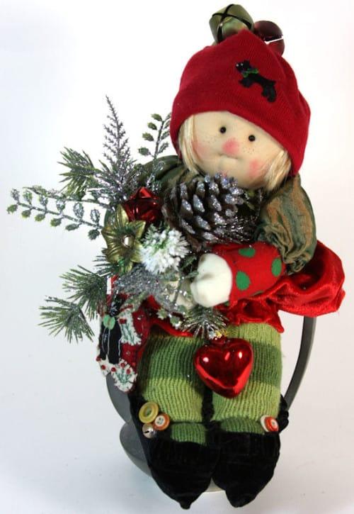 Waiting For Christmas Tea Pot Little Souls Doll