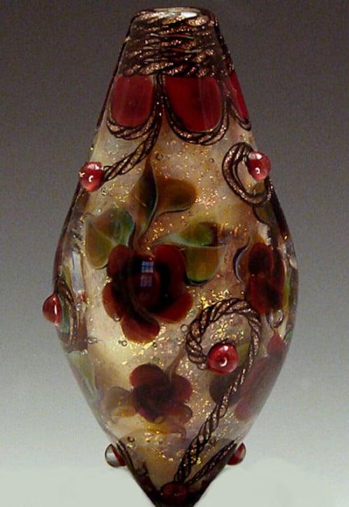 Rennaissance Garden Lampwork Bead