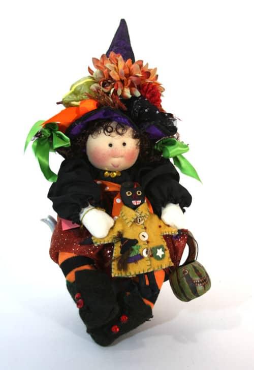 Witch Woo Woo Little Souls Tea Pot Doll